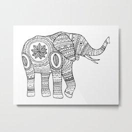 The elephant Metal Print