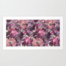 Pattern Flowers 02 Art Print