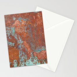 Tarnished Metal Copper Texture - Natural Marbling Industrial Art Stationery Cards