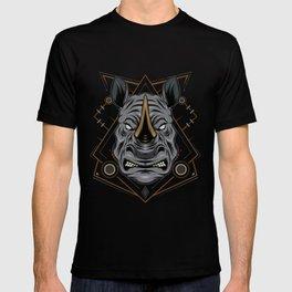 Rhino head logo. Design template T-shirt