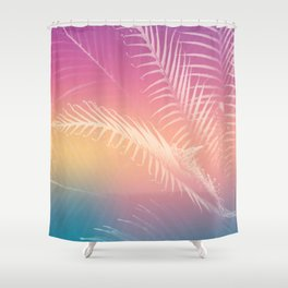 Gradient Tropical leaves Shower Curtain