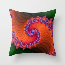 The Path Isn't a Straight Line. Throw Pillow