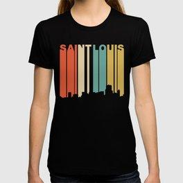 Retro 1970's Style Saint Louis Missouri Skyline T-shirt