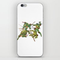 tmnt iPhone & iPod Skins featuring TMNT by Brittany Ketcham