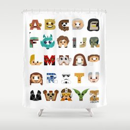 ABC3PO Shower Curtain