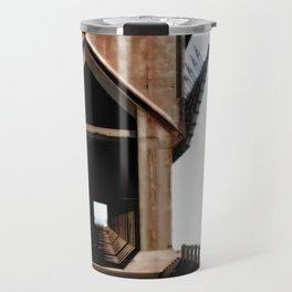 Surreal ore dock Travel Mug