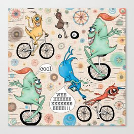 Cycling Cyclops or Cyclops Cycling Canvas Print