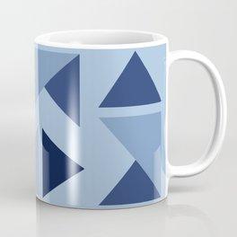 Indigo folding triangles Coffee Mug