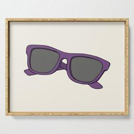 Purple sunglasses Serving Tray