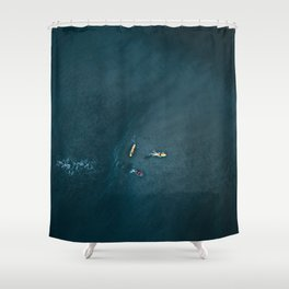 Surfers from Above Shower Curtain