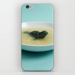 Sea lion soup iPhone Skin