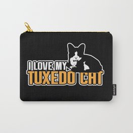 I Love My Tuxedo Cat Lovers Buisness Bossy Gift Carry-All Pouch
