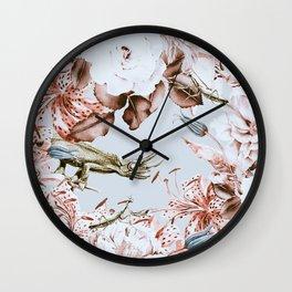 Wild botanical garden I Wall Clock