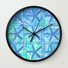 Many Stars by Jan Marvin Wall Clock