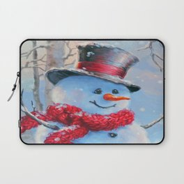 Snowman in the Woods Laptop Sleeve