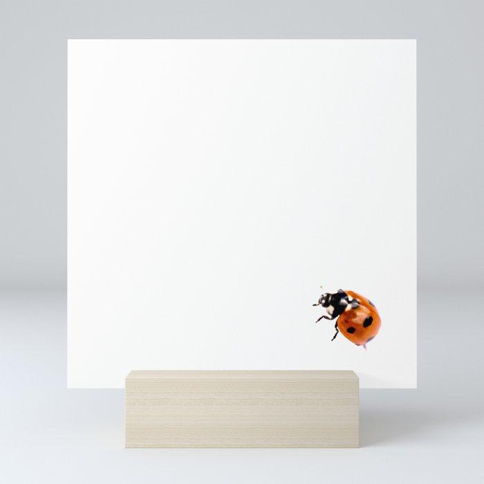 Ladybug on white background #decor #society6 Mini Art Print