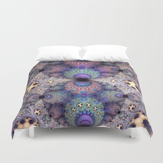 Unending patterns in a fractal design Duvet Cover