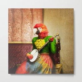 Banjo Birdy Plucks a Pretty Tune! Metal Print