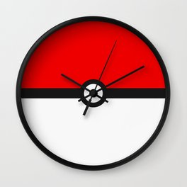 Red and White Minimalism Wall Clock