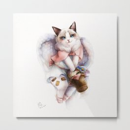 Felina - The Angel Cat Metal Print