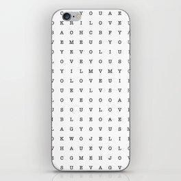 LOVE word search iPhone Skin