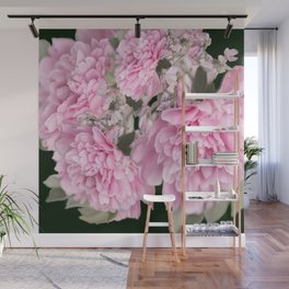 Pink Bouquet On A Black Background  #society6 #buyart Wall Mural
