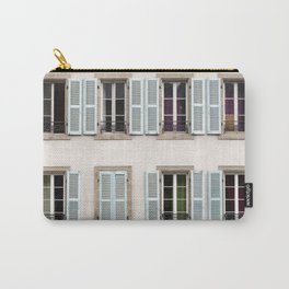 Eight Window Shutters Open and Closed Carry-All Pouch