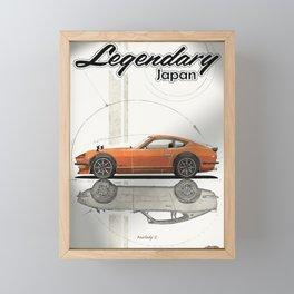 Legendary Japan Orange Fairlady Z 240z S30 Poster Framed Mini Art Print