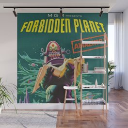 Vintage Forbidden Planet featuring Robby the Robot Theatrical film advertisement poster  Wall Mural