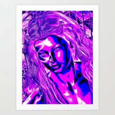 Pop Art Girl Art Print