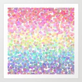Abstract rainbow texture Art Print