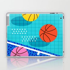 All Day - basketball sports memphis retro throwback neon trendy colors athletic art design Laptop & iPad Skin
