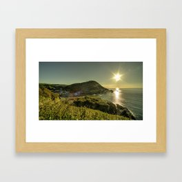 Ilfracombe Refraction Framed Art Print