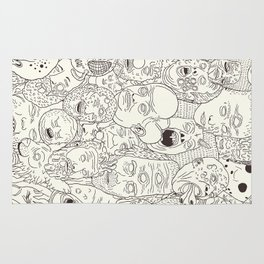 Faces of Math (no color edition)  Rug