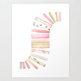 Curving Lines Art Print
