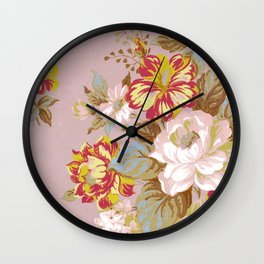 Soft Vintage Floral Wall Clock