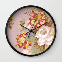Soft Vintage Floral Wall Clock