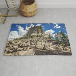 Rocky Path to Devils Tower Rug