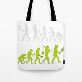 Evolution of Tennis Species Tote Bag