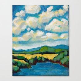 Cooking Lake Landscape by Dennis Weber of ShreddyStudio Canvas Print