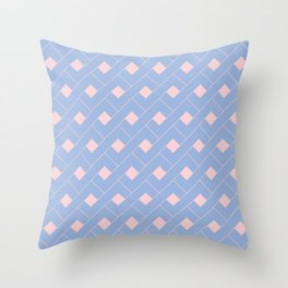 Serenity and Rose Quartz Geometric Throw Pillow