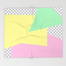 Pastels & Nettings Throw Blanket