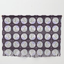 Nature Portals in Periwinkle, Rose & Black Wall Hanging