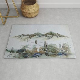 Sand Dunes and Rock Pools Rug