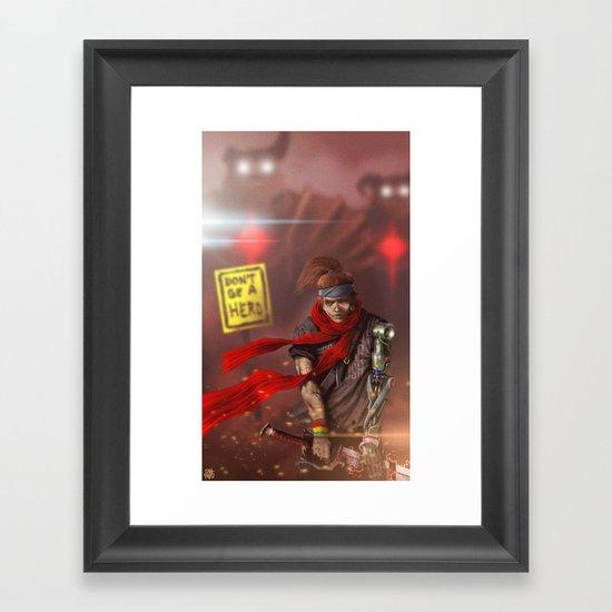 Fear Is Not An Option Framed Art Print