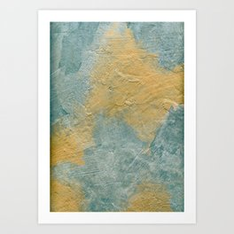 Copper Turquoise Abstract Angel Prayer Painting #01 Art Print