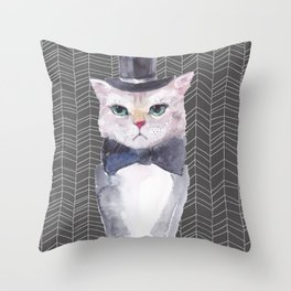 Mr. Whiskers Print Throw Pillow