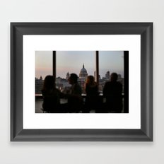 dinner with a view Framed Art Print