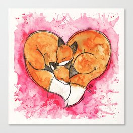 Fox Love Canvas Print
