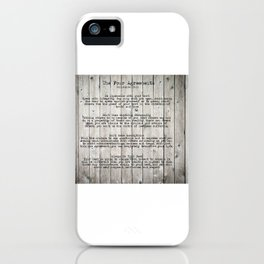 The Four Agreements iPhone Case